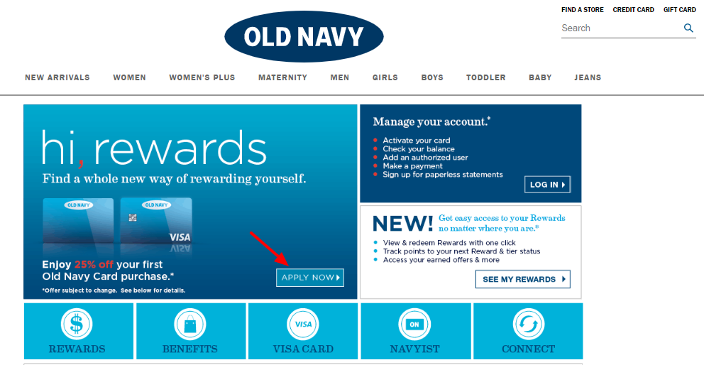 Apply Old Navy Credit Card