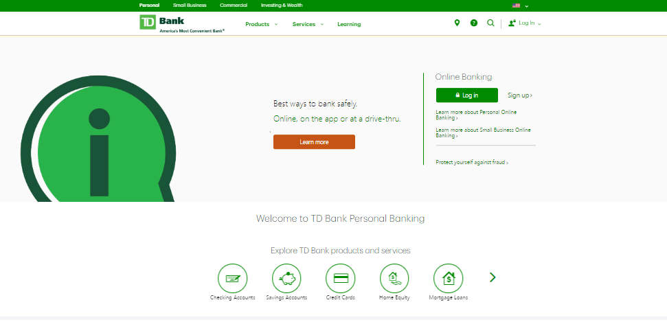 td bank online access problems