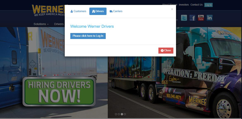werner driver portal