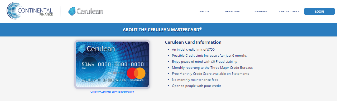 Apply cerulean Credit Card
