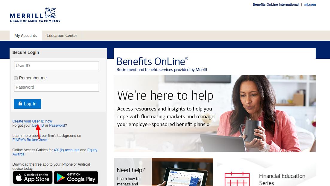 Merrill Lynch Benefits Create Account