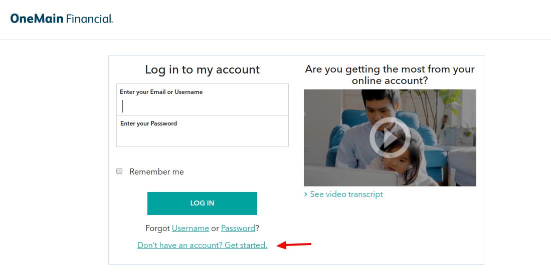 OneMain Financial Create Account