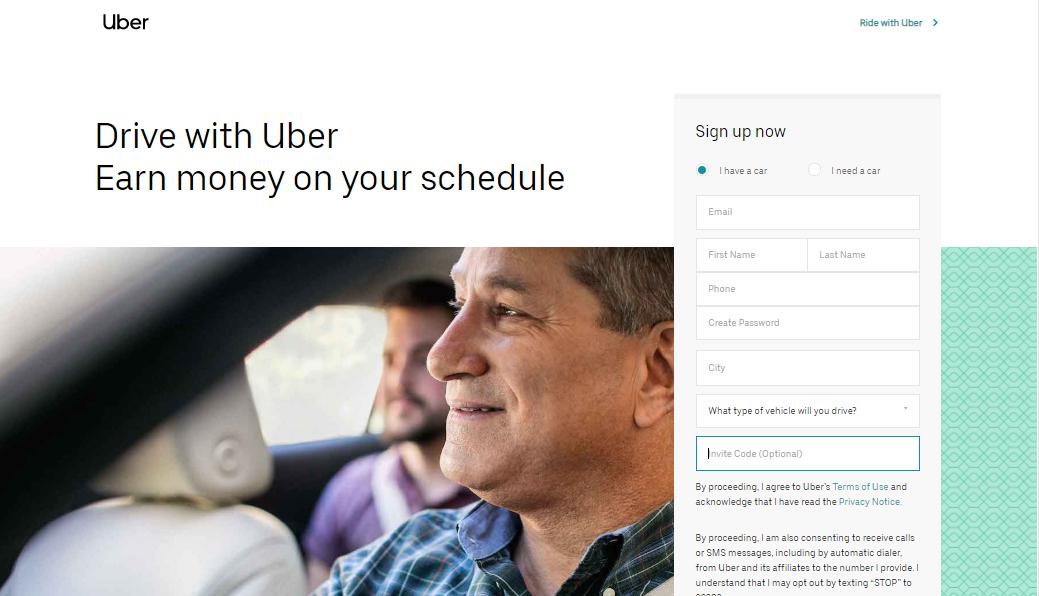Uber Sign Up