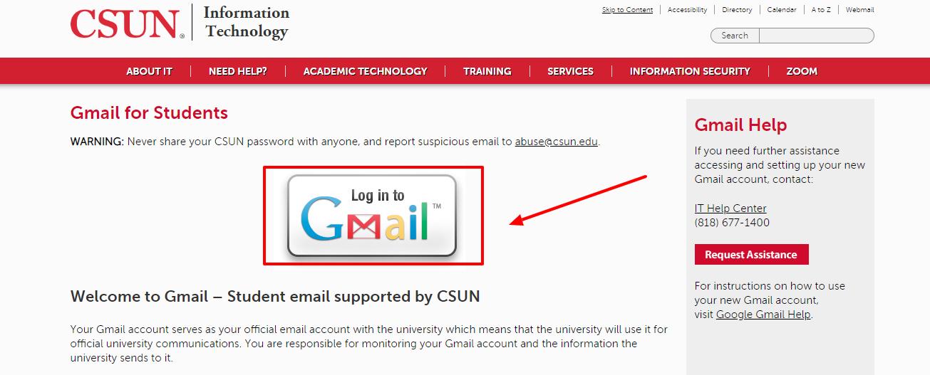 CSUN Student Login