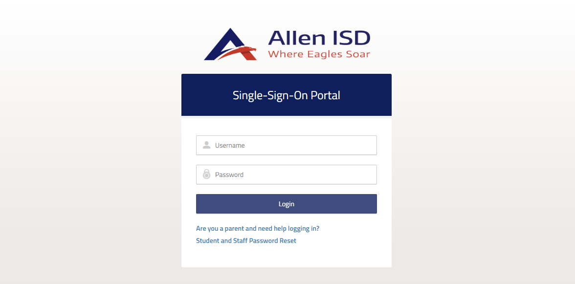 Log in to Allen ISD Account