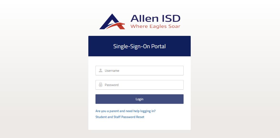 Log in to Allen ISD Account