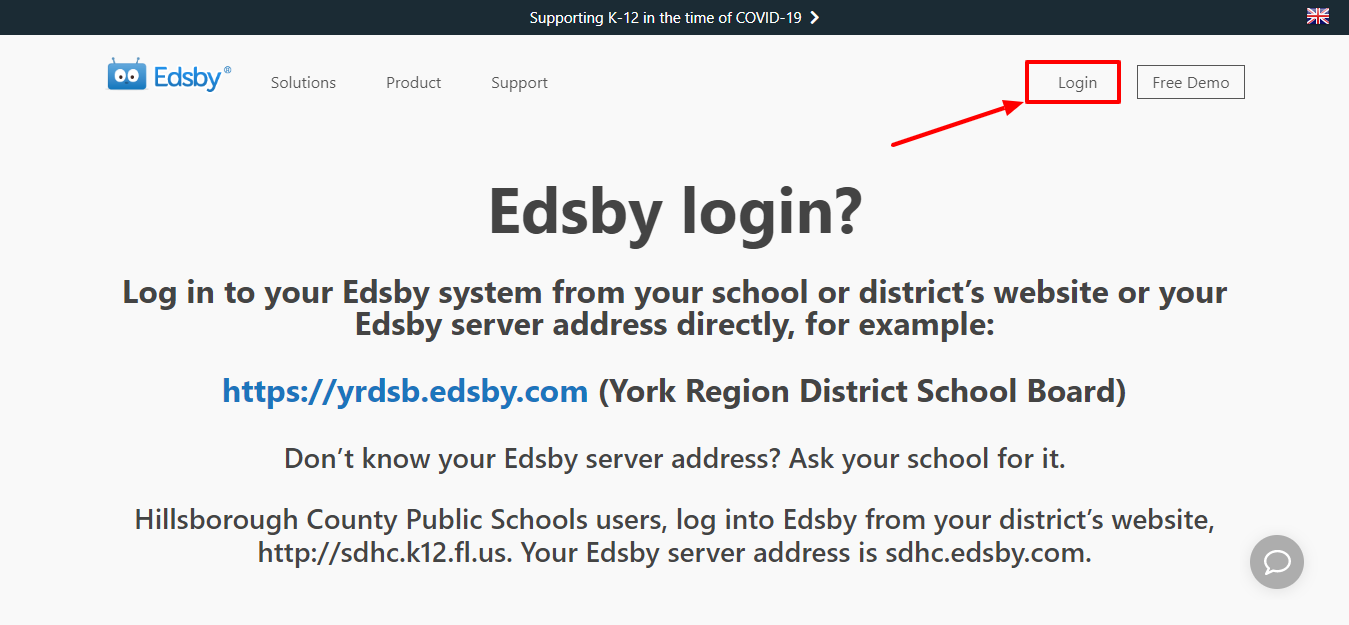 How to Login Your EDSBY Account