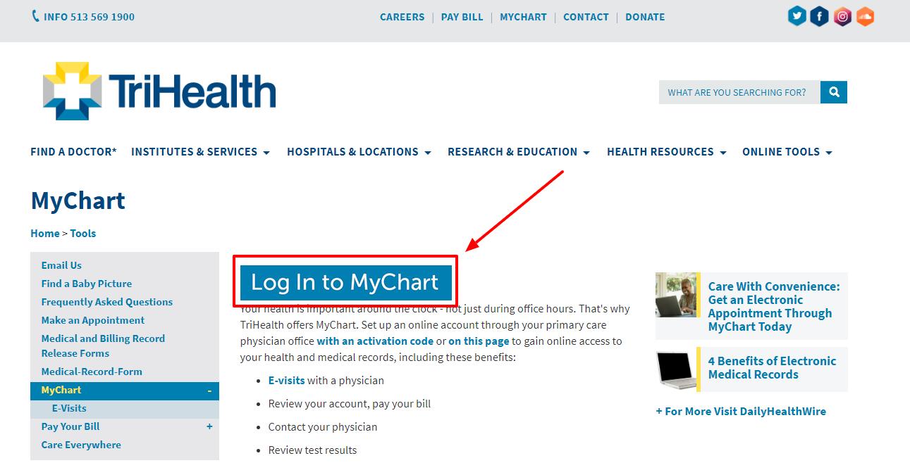 Mychart trihealth login