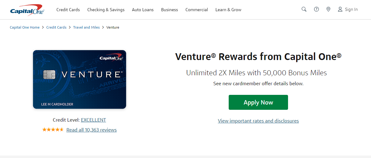 Capital One Venture Credit Card Apply