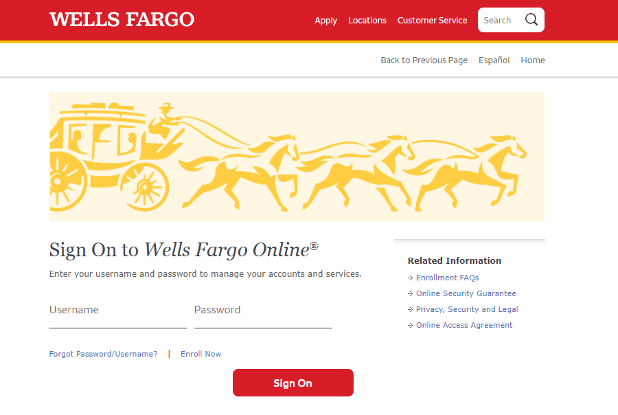 Wells Fargo Sign On