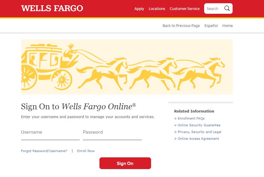 Wells Fargo Sign On