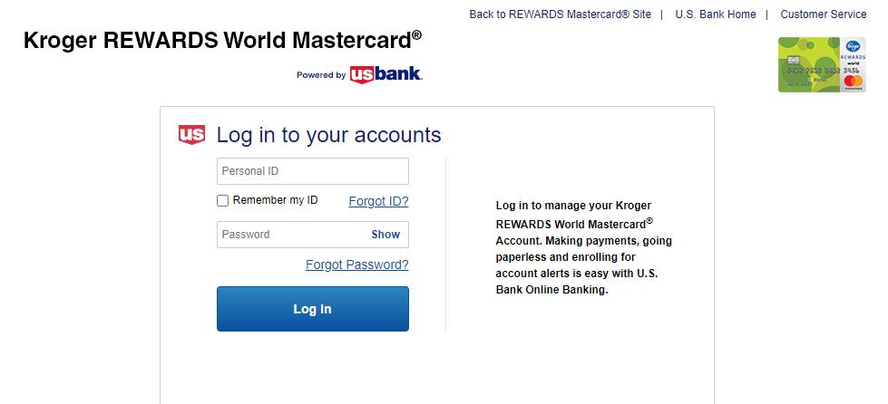 kroger master card login