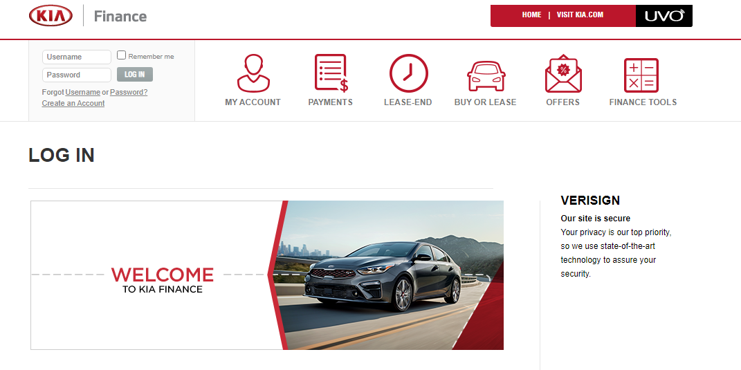 Kia Motors-Finance-Log-In