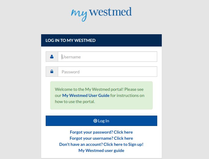 My Westmed Login