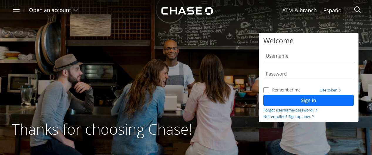 chase verify card logo