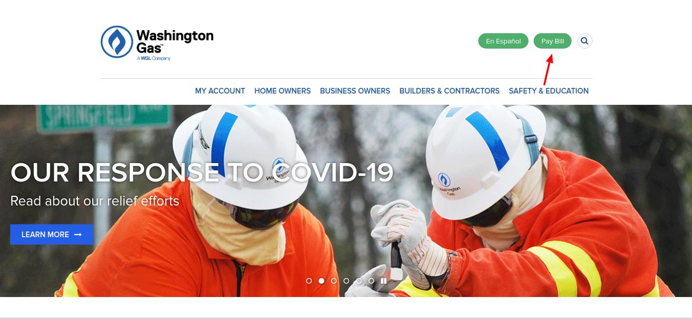 Washington Gas bill pay