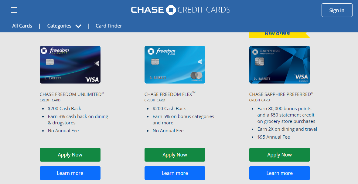 Chase Card Apply
