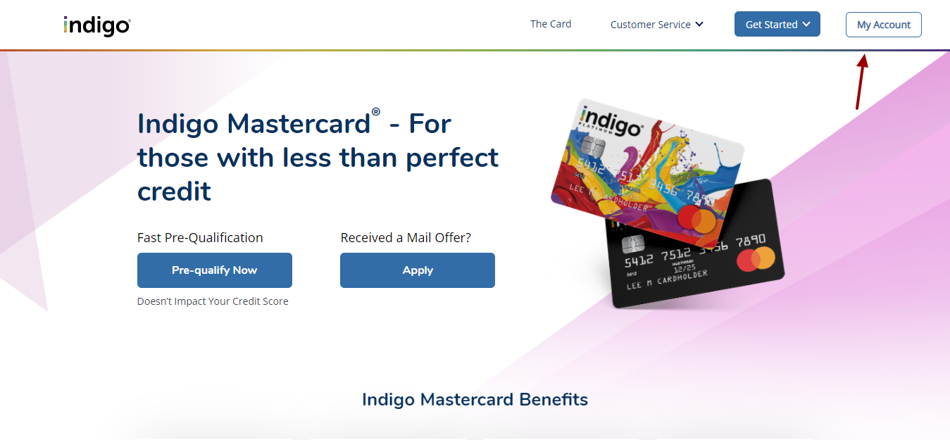 Indigo Card Login