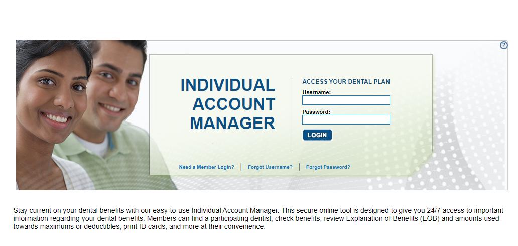 individual account manager login