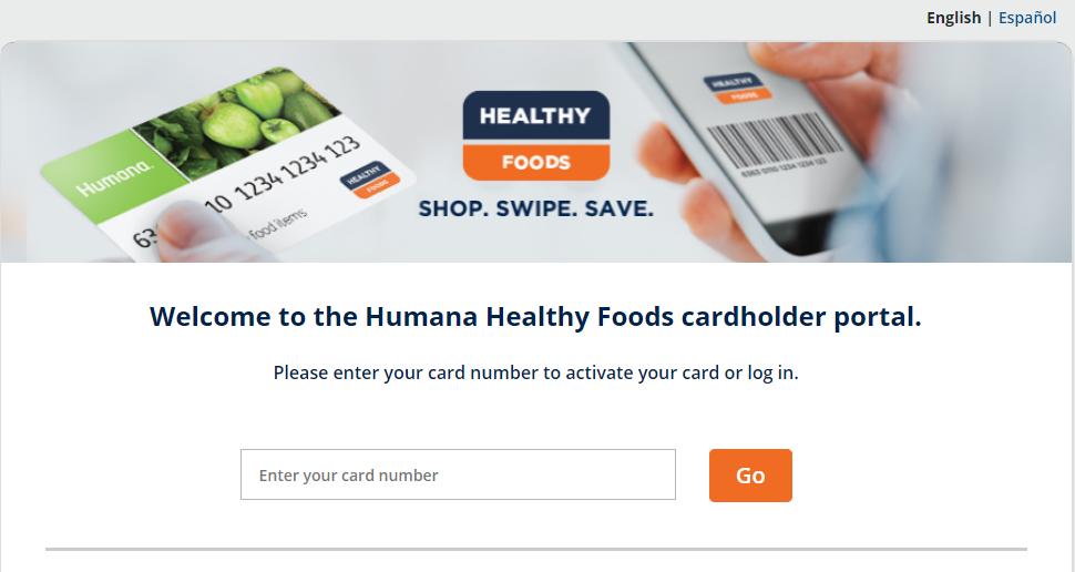 humana healthy food card