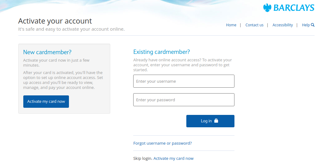 barclaycard activate