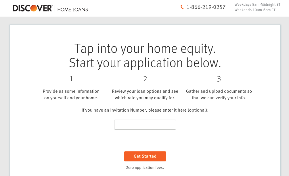 discover home equity loan