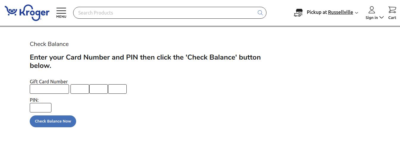kroger gift card balance check